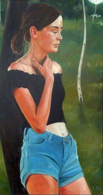 Jung, Mädchen, Teenager, Malerei