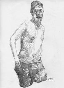 Dick, Strich, Junge, Zeichnungen