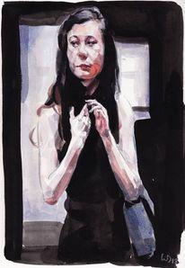 Teenager, Mädchen, Museum, Illustrationen