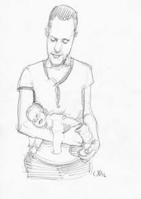 Baby, Selbstportrait, Vater, Kind