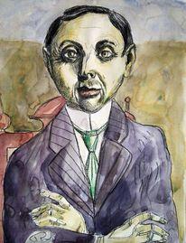 Otto dix, Gesicht, Portrait, Mann