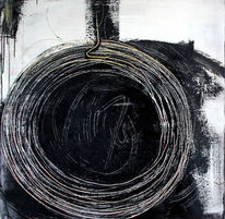 Hamsterrad, Kreis, Schwarzweiß, Einzelstück
