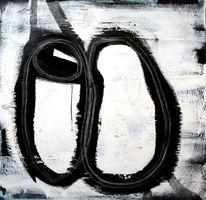 Gemälde, Spachteltechnik, Schwarz weiß, Einzelstück