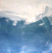 Tanz, Blau, Weiß, Malerei