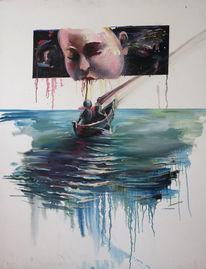Wasser, Boot, Malerei,