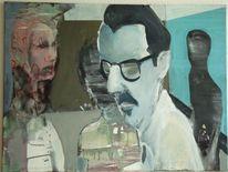 Brille, Menschen, Raum, Malerei
