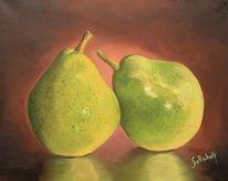 Ölmalerei, Obst, Birne, Malerei