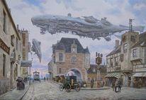 Turm, Luftschiff, Dampf, Zeppelin