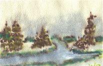 Wolken, Hochwasser, Herbst, Abend