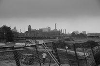 Industrie, Fotografie, Schwarz weiß, Stadt