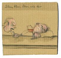 Bar, Rotwein, Blau, Zeichnungen