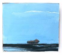 Himmel, Meer, Haus, Malerei
