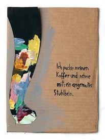 Farben, Koffer, Stuhlbein, Malerei