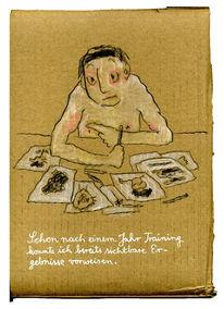 Training, Zeichnung, Muskulatur, Zeichnungen