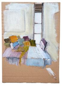 Ecke, Gemütlichkeit, Fenster, Kissen