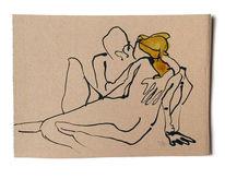 Mann, Frau, Paar, Zeichnungen