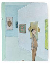 Ausstellung, Langsam, Schildkröte, Malerei