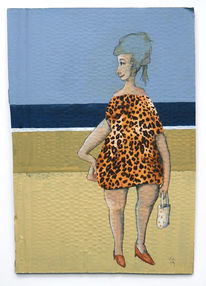 Strand, Frau, Kleid, Illustrationen