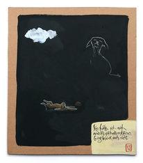 Wolken, Hase, Hund, Zeichnungen