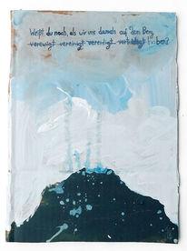 Tagebuch, Vergessen, Berge, Malerei