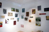 Ausstellung, Wand, Pinnwand,