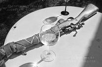 Tisch, Rund, Glas, Gewehr