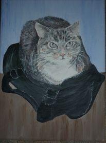 Tiere, Katze, Malerei, Katzenporträts