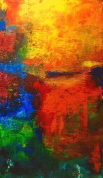 Abstrakt, Acrylmalerei, Farben, Natur