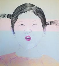 Mädchen, Ursprung, Freude, Portrait