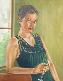 Frau, Akt, Malerei, Abstrakt