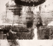 Schwarz weiß, Acrylmalerei, Spachteltechnik, Weiß