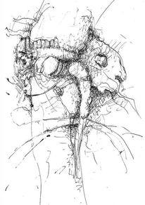 Tuschezeichnung, Federzeichnung, Zeichnung, Zeichnungen
