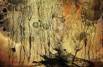 Malerei, Abstrakt, Dunkel, Tanz