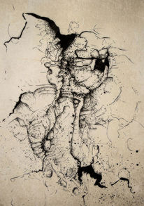 Abstrakt, Federzeichnung, Zeichnungen, Verwirrung