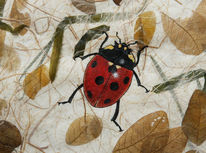 Marienkäfer, Käfer, Malerei