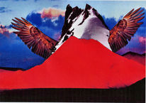 Berge, Fliegen, Fantasie, Collage