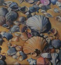 Ölmalerei, Meer, Ferien, Muschel