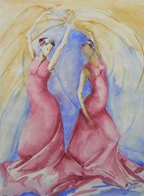 Flamenco, Sevillana, Malerei