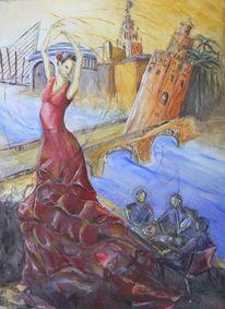 Flamenco, Palmera, Puente san telmo, Torre del oro