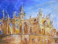 Kathedrale, Abstrakt, Giralda, Skizze