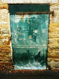 Bretagne, Tür, Grün, Fotografie
