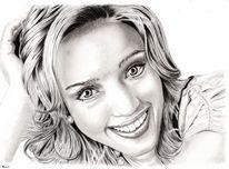 Zeichnung, Portrait, Bleistiftzeichnung, Kohlezeichnung