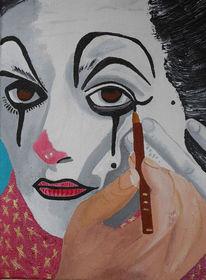 Pantomime, Acrylmalerei, Maske, Malerei