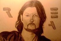 Musiker, Portrait, Stern, Zeichnung