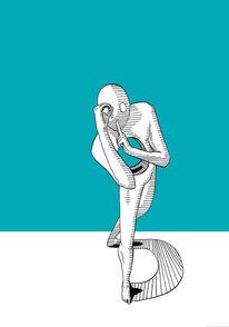 Modern, Zeichnung, Symbolismus, Zeichnungen