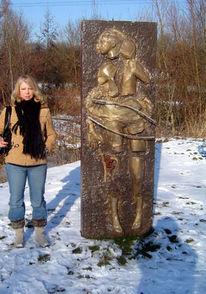 Raum, Stein, Figur, Skulpturkunst