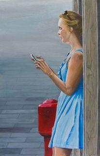 Acrylmalerei, Mädchen, Malerei, Menschen