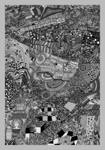 Mosaik, 100 bilder, Grau, Formen