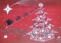 Wihnachten, Nordstern, Weihnachtsbaum, Malerei