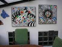 Wetterfest, Acrylmalerei, Lack, Pinnwand